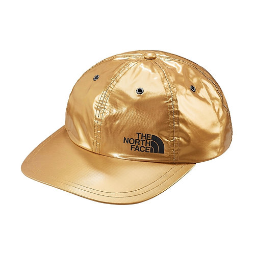 SUPREME SS18 THE NORTH FACE METALLIC 6-PANEL HAT GOLD