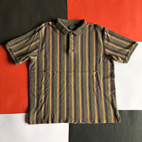 VINTAGE TRADER BAY VERTICAL STRIPED POLO SHIRT