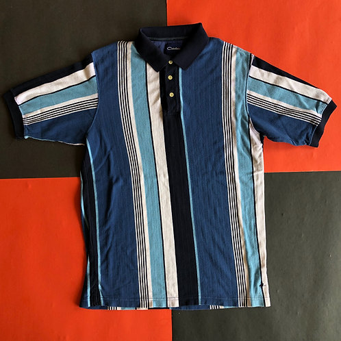 VINTAGE CATALINA VERTICAL STRIPED POLO SHIRT