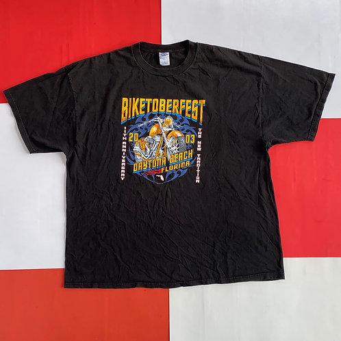 2003 DAYTONA BEACH FLORIDA BIKETOBERFEST GRAPHIC TEE