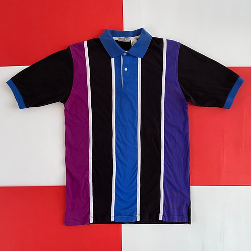 VINTAGE PRIVATE CLUB VERTICAL STRIPED POLO