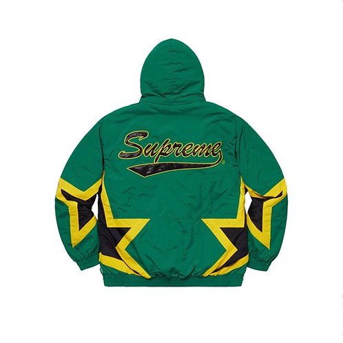 SUPREME SS19 STARS PUFFY JACKET DARK GREEN