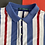 Thumbnail: VINTAGE MULTICOLOR VERTICAL STRIPED POLO SHIRT
