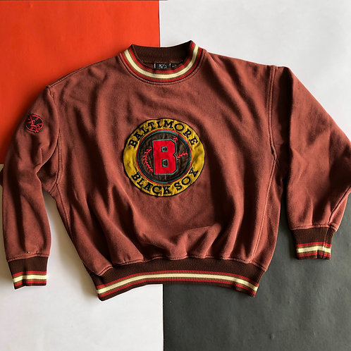 VINTAGE NEGRO LEAGUE BASEBALL BALTIMORE BLACK SOX CREWNECK