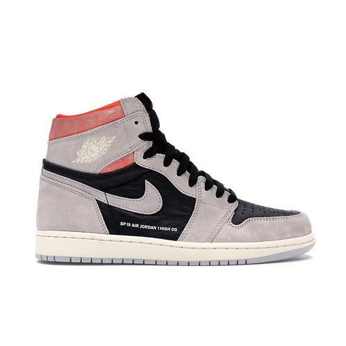 AIR JORDAN 1 RETRO HIGH OG 'NEUTRAL GREY/HYPER CRIMSON' (2019)