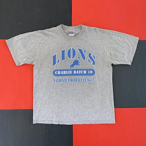 VINTAGE 1999 CHARLIE BATCH DETROIT LIONS TEE