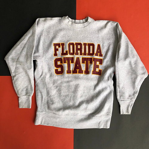 VINTAGE SOFFE SWEATS FLORIDA STATE SPELLOUT CREWNECK