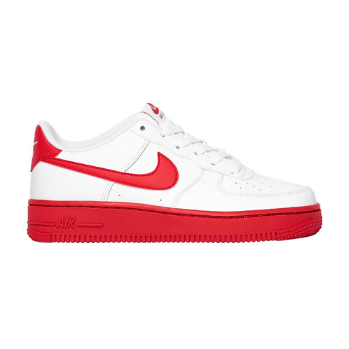 NIKE AIR FORCE 1 GS 'WHITE RED SOLE' (2020)