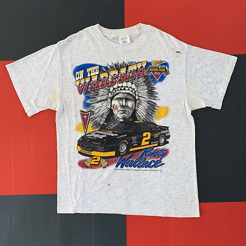 VINTAGE RUSTY WALLACE ON THE WARPATH RACING TEE