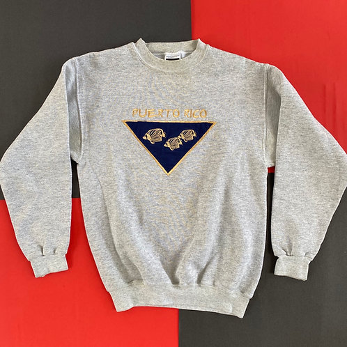 VINTAGE PUERTO RICO EMBROIDERED CREWNECK