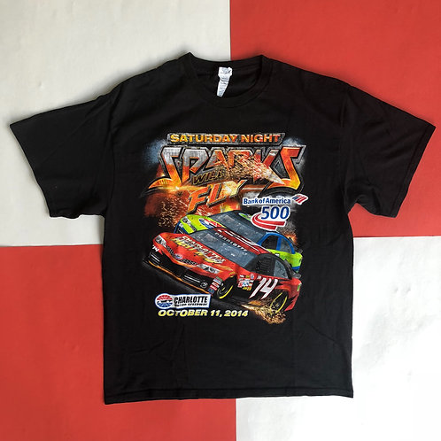 2014 CHARLOTTE MOTOR SPEEDWAY DOUBLE SIDED RACING TEE