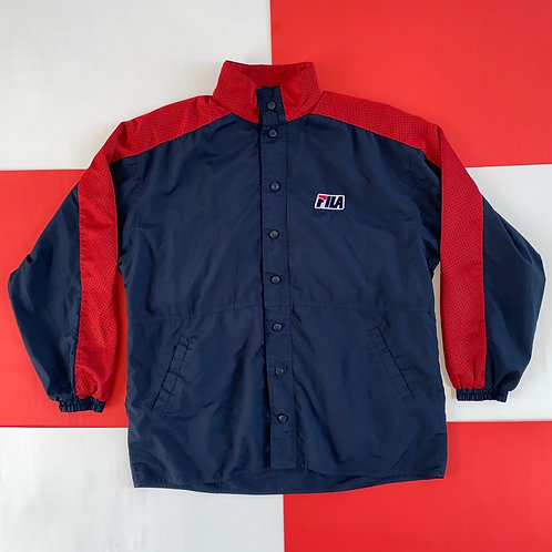 VINTAGE FILA REVERSIBLE BUTTON UP JACKET