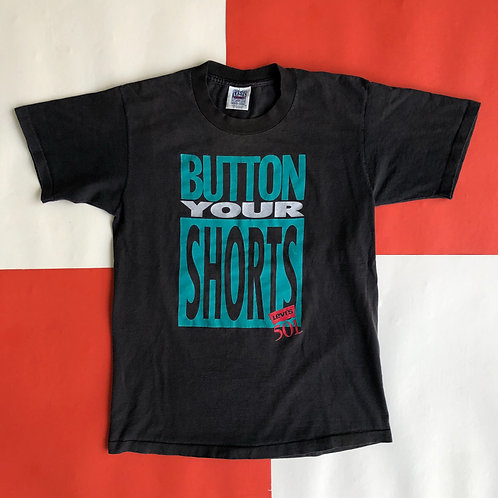 VINTAGE LEVI'S BUTTON YOUR SHORTS GRAPHIC TEE
