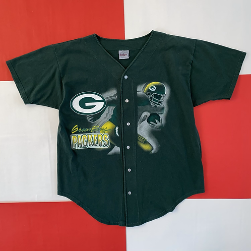 VINTAGE 1996 GREEN BAY PACKERS BASEBALL JERSEY