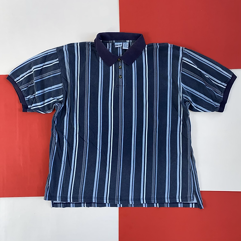 VINTAGE CHEROKEE VERTICAL STRIPED POLO SHIRT