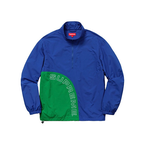 SUPREME SS18 CORNER ARC HALF ZIP PULLOVER ROYAL