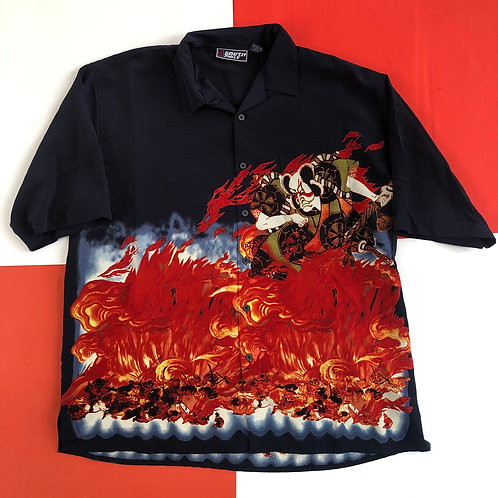 SOUTH POLE CHINESE WARRIOR FLAMES CLUB SHIRT
