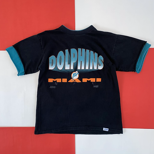 VINTAGE 1992 MIAMI DOLPHINS LAYERED GRAPHIC TEE