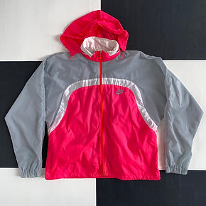 VINTAGE NIKE GREY TAG COLOR BLOCK WINDBREAKER