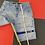 Thumbnail: VINTAGE GIRBAUD STRAPS DENIM SHORTS BLUE