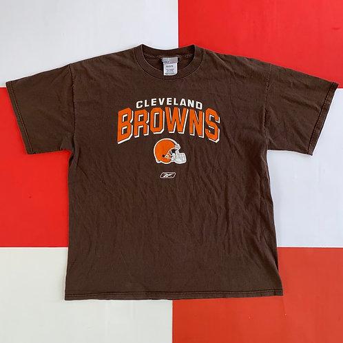 Y2K REEBOK NFL CLEVELAND BROWNS GRAPHIC TEE