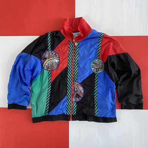 VINTAGE CASUAL ISLE COLOR BLOCK WINDBREAKER