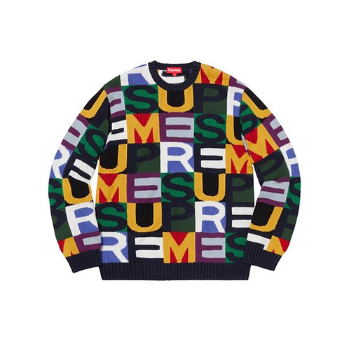 SUPREME FW18 BIG LETTERS SWEATER MULTICOLOR