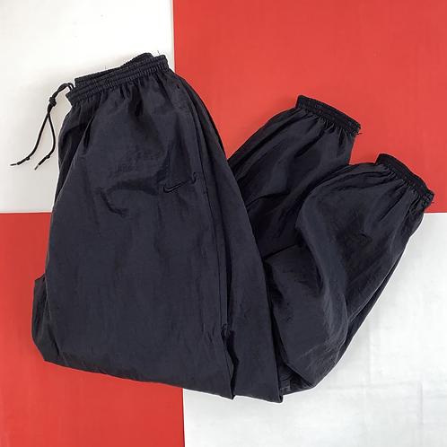 VINTAGE NIKE SWOOSH TRACK PANTS BLACK