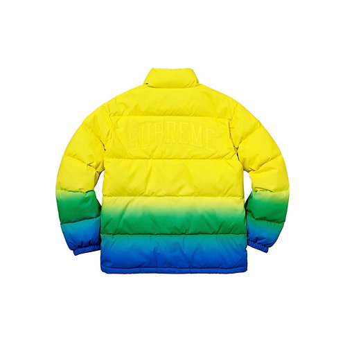 SUPREME SS18 GRADIENT PUFFY JACKET YELLOW
