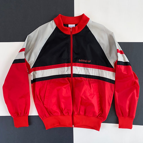 VINTAGE ADIDAS COLOR BLOCK FULL ZIP WINDBREAKER