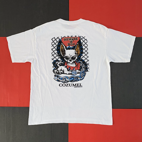BEWARE OF DOG COZUMEL MEXICO GRAPHIC TEE