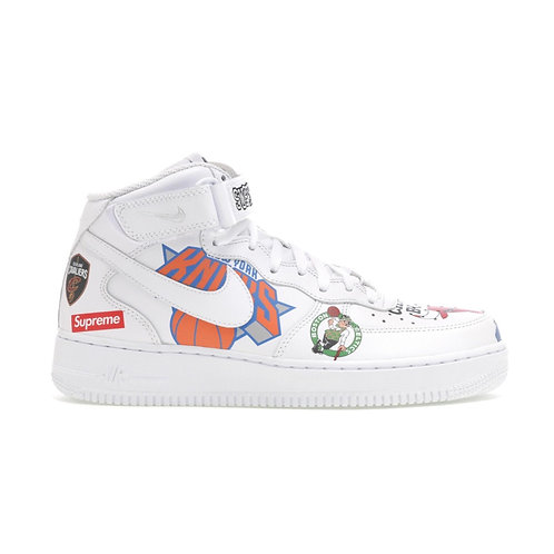SUPREME NIKE AIR FORCE 1 MID NBA WHITE