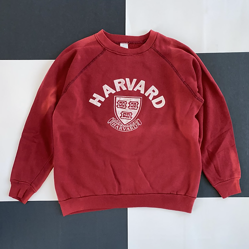VINTAGE HARVARD SUN FADED CREWNECK