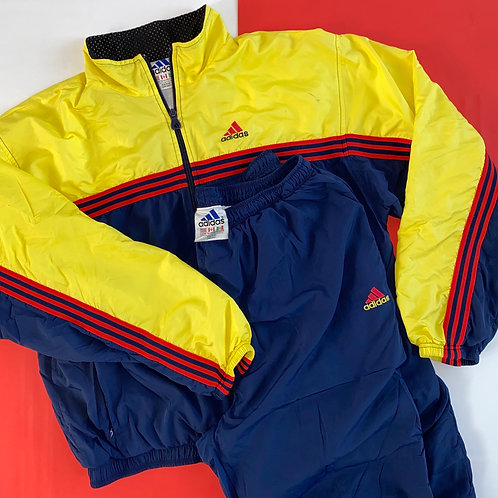 VINTAGE ADIDAS BRIGHT TWO-PIECE TRACK SUIT SET