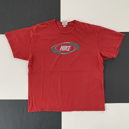 VINTAGE NIKE SPELLOUT TEE RED
