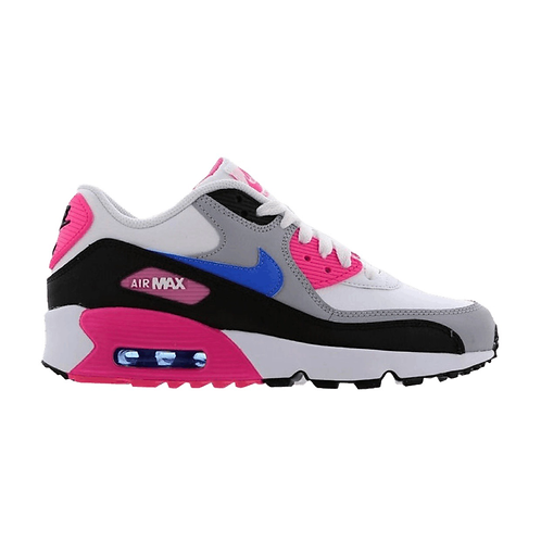 NIKE AIR MAX 90 LEATHER GS 'WHITE/BLUE/PINK' (2019)