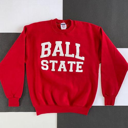 BALL STATE PRINTED LOGO CREWNECK SWEATSHIRT