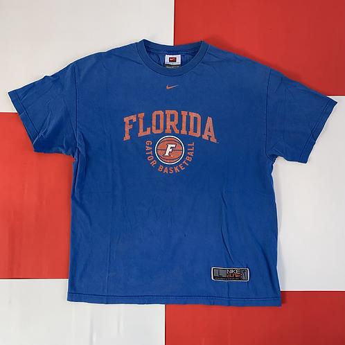 NIKE FLORIDA GATORS BASKETBALL CENTER SWOOSH TEE