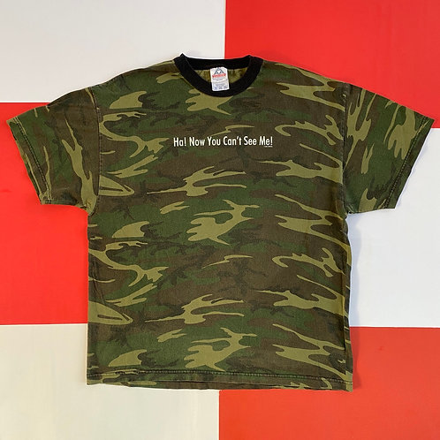 2001 NOW YOU CAN'T SEE ME CAMO TEE