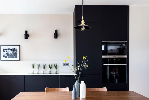 Façade cuisine noire BOCKLIP