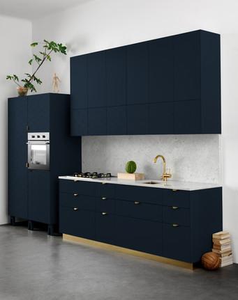 Façade cuisine bleu SUPERFRONT