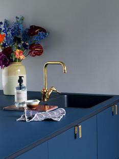 Façade cuisine bleue &SHUFL