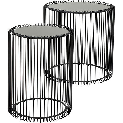 SET DE 2 TABLES D'APPOINT NOIRES