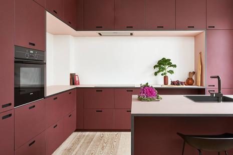 Façade cuisine rouge &SHUFL