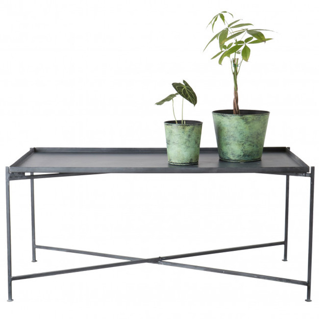 Table Basse Métal Gris - 47 cm