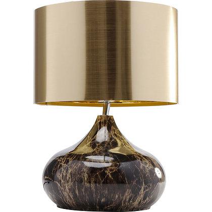 LAMPE DE TABLE DELUXE MARBRE MARRON