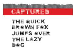 Captured - Font design