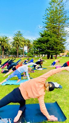 Yoga by the beach with Ying Bean Cronull