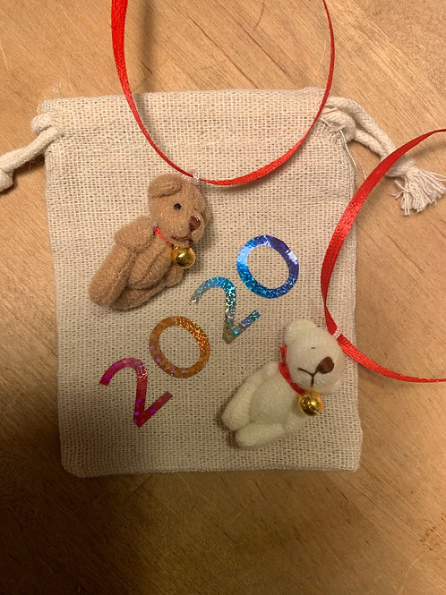 MICRO Bear with Bag and message
