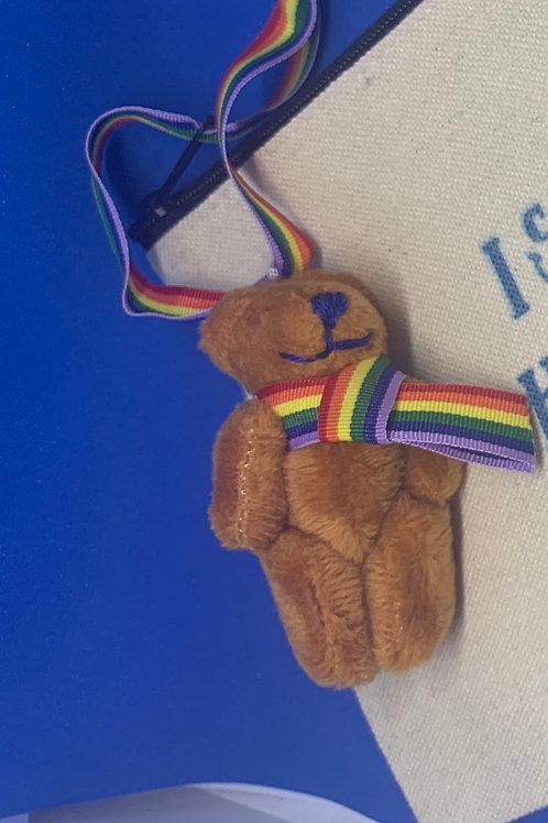 Hanging Rainbow Bear